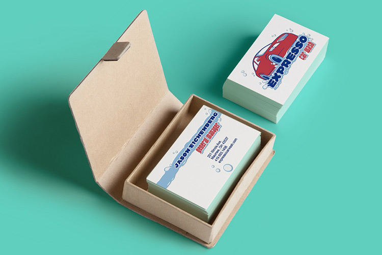 Expresso Car Wash Business Cards